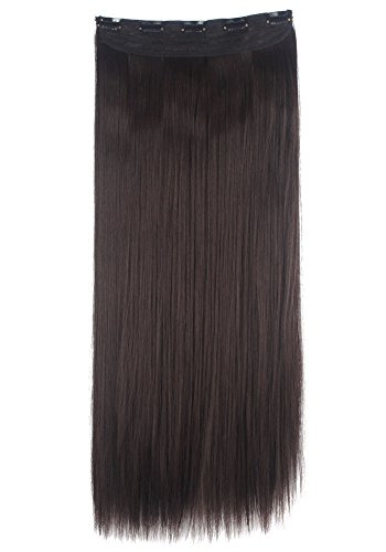 Florata Straight Extensions Hairpieces inch Dark