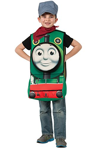 [Rubies Thomas and Friends Deluxe 3D Percy The Small Engine Costume, Toddler] (Toddler Conductor Outfit)