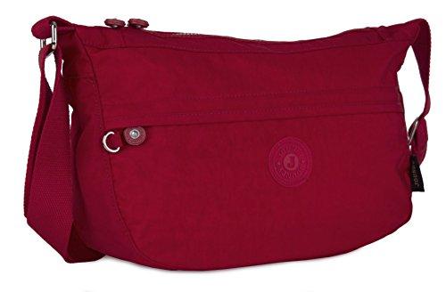 Big Handbag Shop - Bolso cruzados de tela para mujer Red
