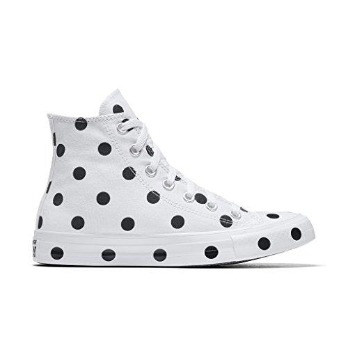 Converse Ctas Hi Herenmode-sneakers Wit / Zwart / Illusie Groen