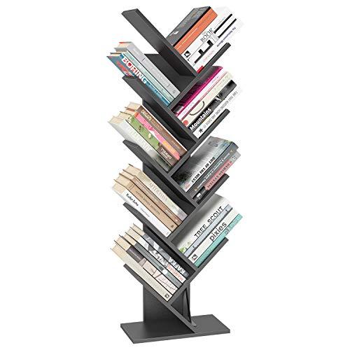 Tree Bookshelf BookRack, 9-Shelf Bookcase, Arti...