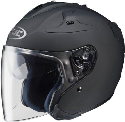 HJC Solid FG-JET 3/4 Open Face Motorcycle Helmet - Matte Black / Large