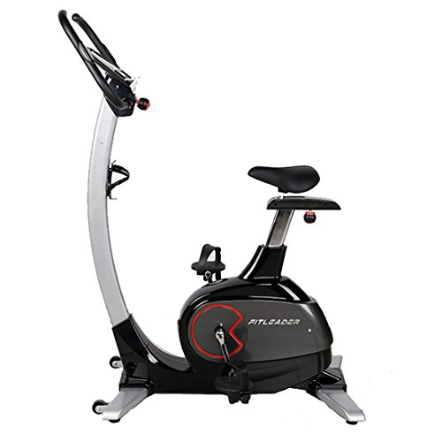 Fitleader Upright Bike Indoor Cardio Bike Magnetic Resistance Stationary Cycling Machine (Grey)