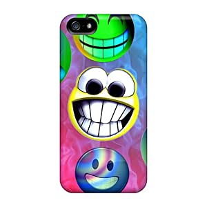 ScoDay Snap On Hard Case Cover Smiles Protector For Iphone 5/5s