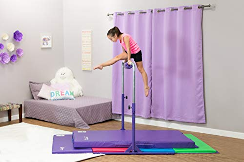 Tumbl Trak Expandable Gymnastics Training Jr Kip Bar, Purple