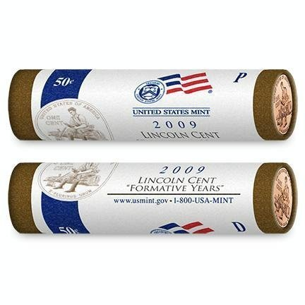 - 2009 Lincoln Cent Two Roll - Roll Set