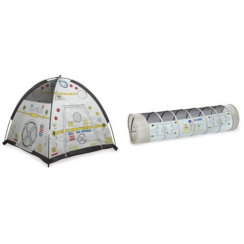 Space Tunnel (Pacific Play Tents Kids Space Module Dome Tent and Crawl Tunnel, 2 piece bundle, 48