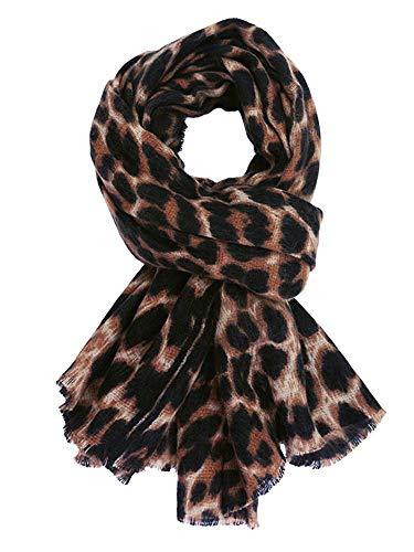 GERINLY Women's Scarves: Cashmere-Like Leopard Cozy Warm Wrap Scarf (Dark Brown) ()