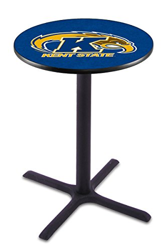"""Holland Bar Stool L211B Kent State University Officially Licensed Pub Table, 28"""" x 36"""", Black"""