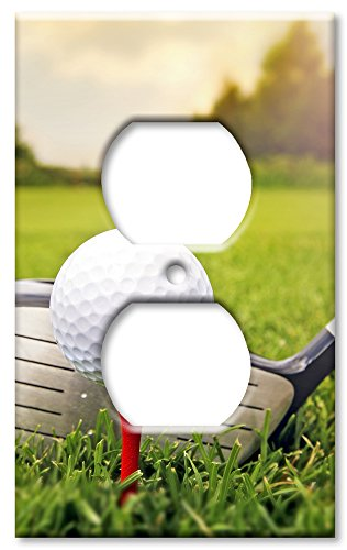 - Art Plates Brand Electrical Outlet Wall/Switch Plate - Golf Club & Ball