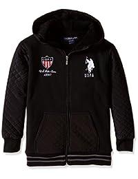 U.S. Polo Association Big Boys' Sherpa-Lined Taslon and Fleece Jacket