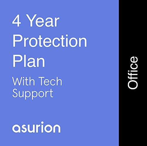 ASURION 4 Year Office Equipment Protection Plan with Tech Support 0-499.99