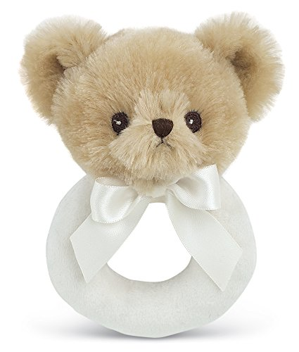 Bearington Baby Lil' Teddy Plush Stuffed Animal Teddy Bear Soft Ring Rattle 5.5