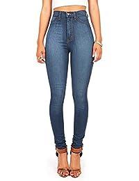 Womens Juniors Classic High Waist Denim Skinny Jeans