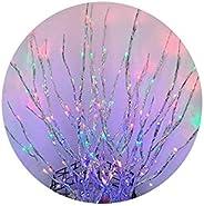 hutishop2020 Night Light Christmas 20LEDs Willow Branch Lamp Strings Light Wedding Party Tree Decoration