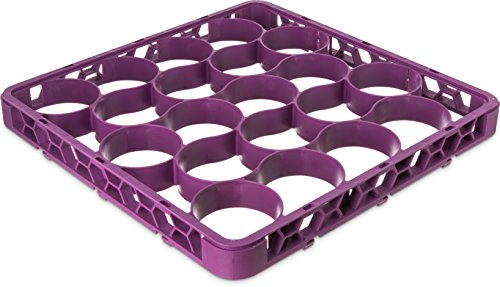 Carlisle REW20SC89 OptiClean NeWave 20 Compartment Glass Rack Extender, Lavender (Pack of 6) by Carlisle