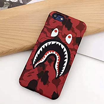 for iPhone Bape Case, NCANGU A Bathing Ape (Bape) Slim Protective Premium Hard Case for iPhone (Red Camo, 6/6s-4.7