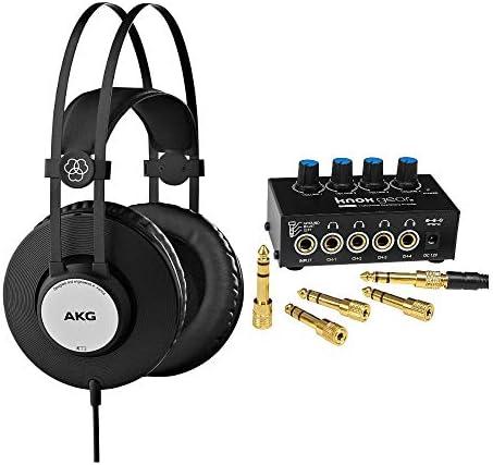 AKG K72 Closed-Back Studio Headphones BundleKnox 4-Channel Amplifier (2 It)