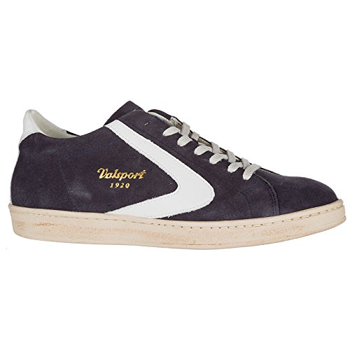 Blu Chaussures Daim Valsport 1920 Sneakers en Baskets Homme Tournament TF8x5Fv