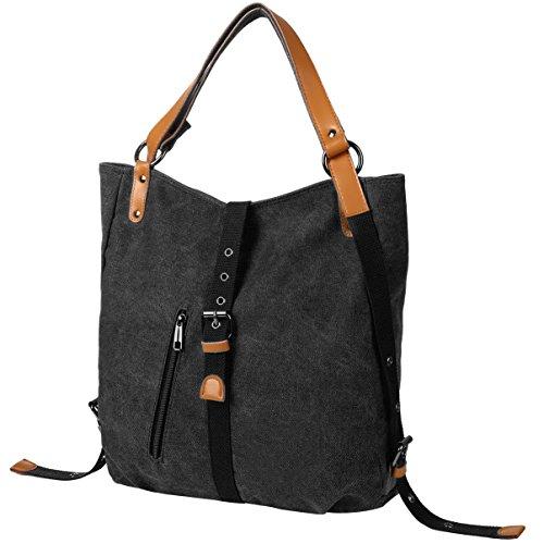 Black Body Canvas Backpack Bag Women Cross Bag Shoulder Vbiger 8qgFvg