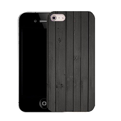 Mobile Case Mate IPhone 4s clip on Silicone Coque couverture case cover Pare-chocs + STYLET - black plank pattern (SILICON)