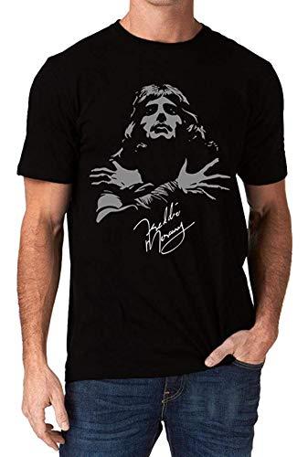 graceful shop Freddie Mercury Queen Band Autograph Sign Men's T-Shirt Black