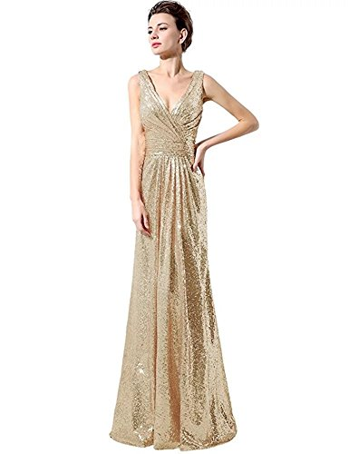 champagne and gold bridesmaid dresses - 5