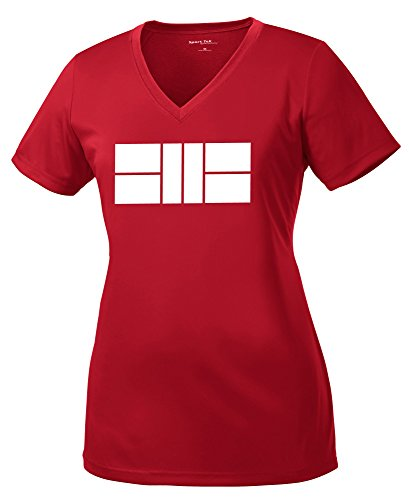 Dinkers & Bangers Ladies Dri Fit Pickleball Court Shirt - V Neck