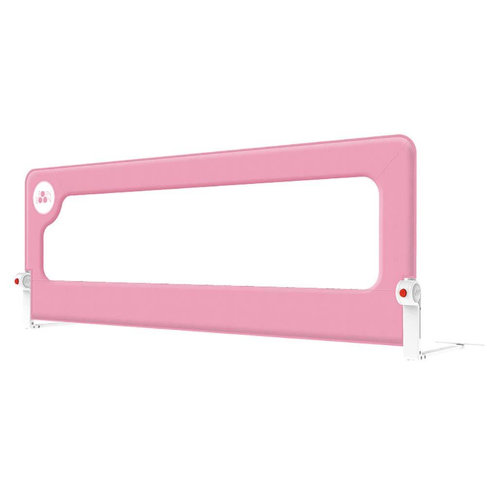 赤ちゃんチャイルドベッドガードレール幼児安全ベッドフェンスユニバーサルアンチ秋ベッドバー大きなベッドバッフル、高さ72cm、1サイド、1.5m / 1.8m / 2m、ピンク (サイズ さいず : 1.5m) 1.5m  B07GV6713H