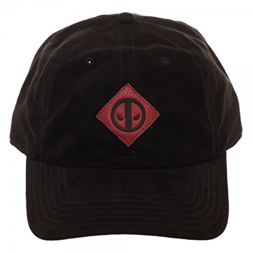 cheaper becef 01880 Image Unavailable. Image not available for. Color  Bioworld Marvel Comics Deadpool  Suede Adjustable Dad Hat w Leather Patch