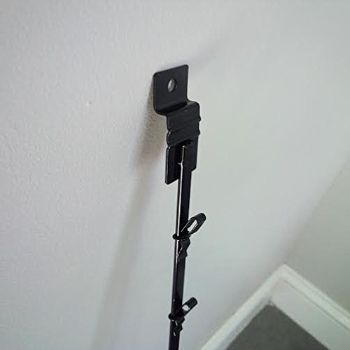 New Black 12 Clips Slatwall Mount Clipper Display Single Strip by Display Rack (Image #1)