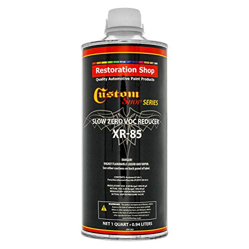 - Restoration Shop/Custom Shop - XR85 Slow Zero V.O.C. Urethane Reducer (Quart/32 Ounce) for Automotive Paint and Industrial Paint Use for Low V.O.C. Compliance