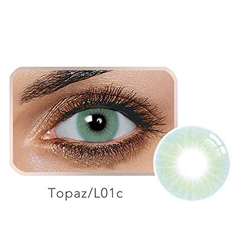 Women Multi-Color Colored Cute Charm and Attractive Fashion Contact Lenses Cosmetic Makeup Eye Shadow (Color12) -