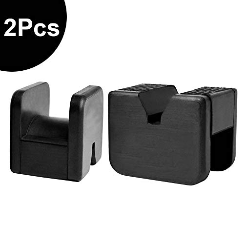 Marsauto Jack Pad Adapter, 2 Pack Rubber Pads Slotted Frame Rail Pinch Weld Protector for Jack Stand
