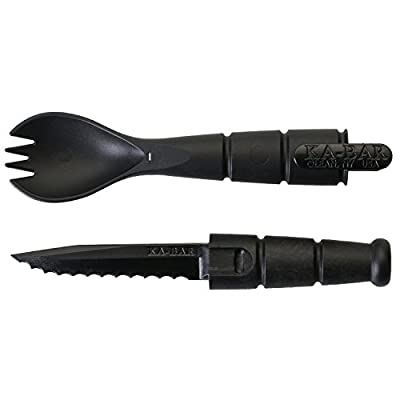 Ka-Bar Tactical Military Sporks - Spoon Fork Knife Combo Set - Camping Hiking Hunting Backpacking Outdoor Survival Multitool Utensil Accessory - 2 Pack by Ka-Bar