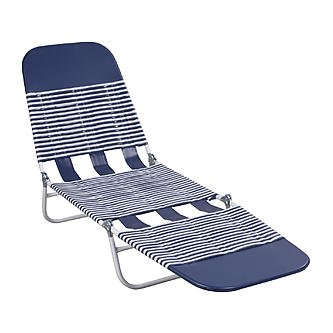Essential Garden S65002 PVC Chaise Lounge - Blue by Essential Garden