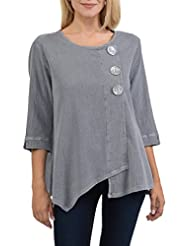 Focus Fashion Womens Cotton Crinkle Gauze Tunic-CG102