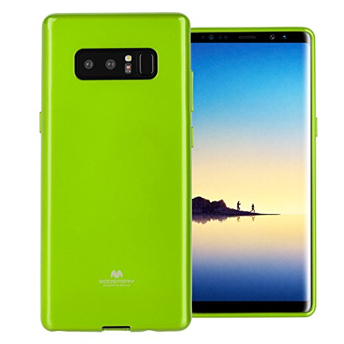 - GOOSPERY Marlang Marlang Galaxy Note 8 Case - Lime Green, Free Screen Protector [Slim Fit] TPU Case [Flexible] Pearl Jelly [Protection] Bumper Cover for Samsung Galaxy Note 8, NT8-JEL/SP-LIM