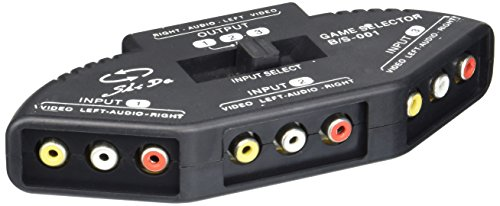 - Cable N Wireless 3-Way Audio Video RCA Composite AV Video Game Selector Switch Box Splitter