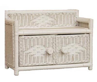 "Wicker Bathroom or Bedroom Wall Cabinet Shelf 2 Doors-1 Shelf in White Stain - This white stain wicker bedroom or bathroom wall cabinet is both functional and beautiful. Dimensions: 18"" x 7"" x 12"" inches Comes with 2 Doors-1 Shelf - shelves-cabinets, bathroom-fixtures-hardware, bathroom - 41gMdksEkVL -"