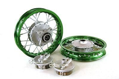 Honda Front Rim Wheel (Honda CRF50 Green Front & Rear Alum Wheels Rims. 10