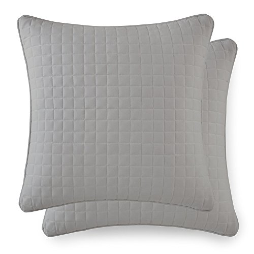 Southshore Fine Linens - VILANO Springs - Pair of Quilted Pillow Sham Covers (No Inserts), 18