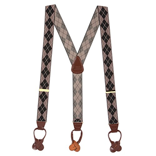 H. A. Sheldon Mens Argyle Button Suspenders