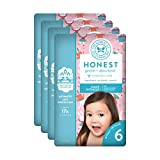The Honest Company Baby Diapers with True Absorb Technology, Snow Bunnies, Size 6, 72 Count
