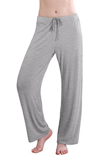 Vislivin Women's Stretch Knit Pajama Pants Modal Sleep Pant Gray Wide XL