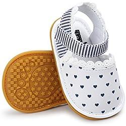 CoKate Baby Toddler Boy Girls Prewalker Toddler Sneaker Shoes (6-12Months, Blue Heart)