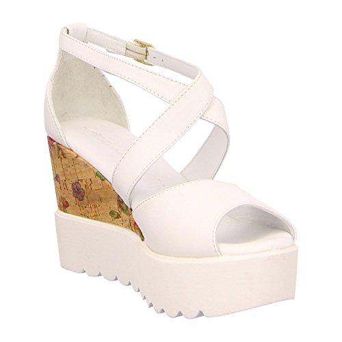 White para mujer de de Piel 1 1 36 26 197 vestir 28351 Sandalias Comb Tamaris Blanco nv8w6Pqq