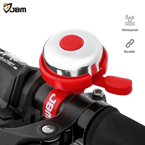 JBM Aluminum Bicycle Bike Bell (Left Side ONLY) Ring Horn Accessories (5 Colors) Clear and Loud, Fits for Adults Youth Kids Mountain Road Bike Bell (Red Blue Black Pink Grey) - Lights Australia Cateye