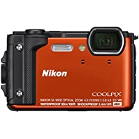 Nikon W300 Waterproof Underwater Digital Camera with TFT LCD, 3', Orange