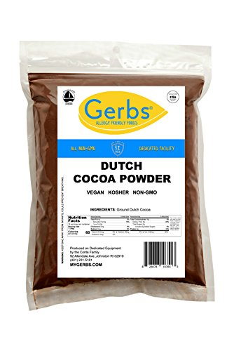 Cocoa Red (Dutch Cocoa Powder, 1 LB - Top 14 Food Allergen Free & NON GMO by Gerbs - Product of Canada – Packaged in USA)